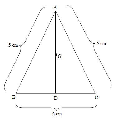 若ab 10 bc 8 ac 6_ABC is an isosceles triangle with AB AC 5 and BC 6 class 10 maths CBSE