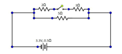 The diagram above shows a circuit with the key k open ...